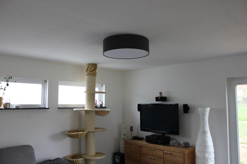 hufnagel mara deckenleuchte als lounge lampe im wohnzimmer wir bauen dann mal ein haus. Black Bedroom Furniture Sets. Home Design Ideas