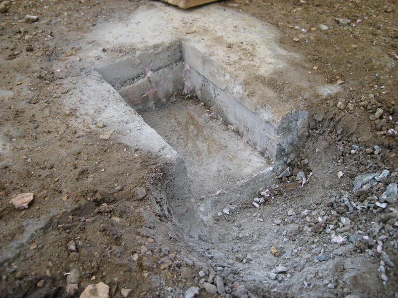 Entwasserungsblock Garagenfundamente Wir Bauen Dann Mal Ein Haus