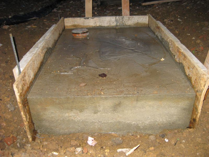 Schalung Vom Fundament Entfernt Wir Bauen Dann Mal Ein Haus