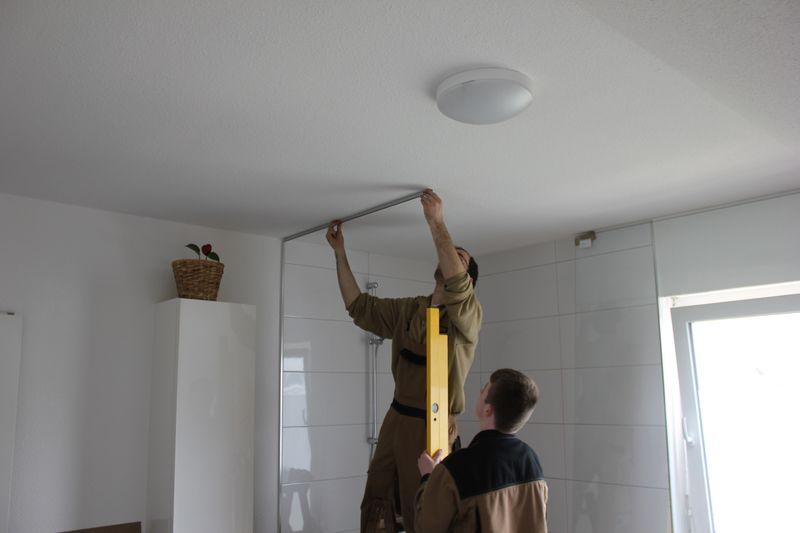 Dusche halbhoch gemauert glas  10mm Sicherheitsglas für die Duschabtrennung aus Glas › Wir bauen ...