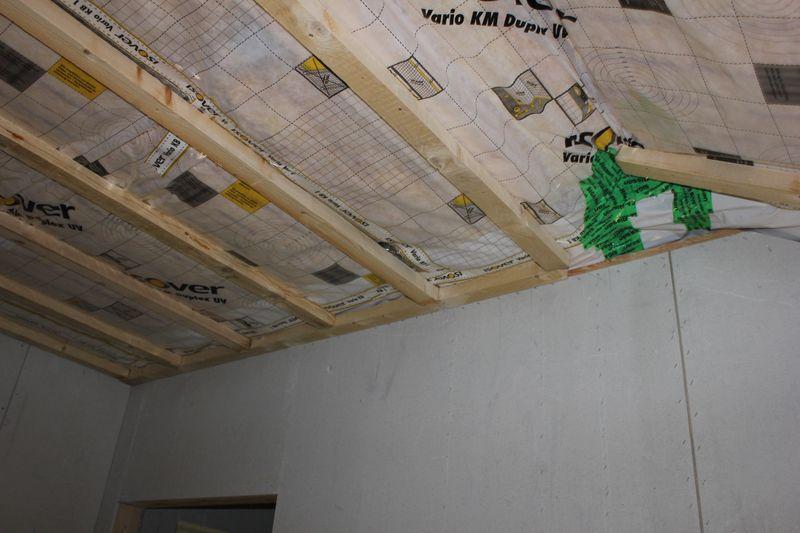 trockenbauarbeiten an der decke im og wir bauen dann mal ein haus. Black Bedroom Furniture Sets. Home Design Ideas