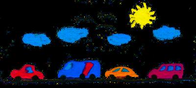 Geräusche von der Autobahn