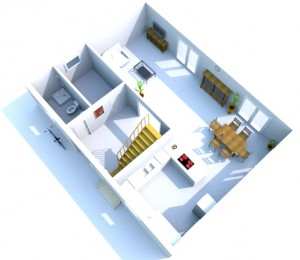 SweetHome 3D Entwurf vom Grundriss