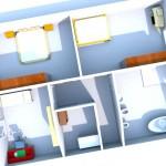 Entwurf Grundriss Obergeschoss
