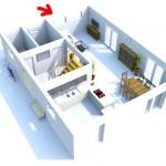 Grundriss Erdgeschoss mit Lichtband im Wohnbereich