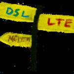 Internet via DSL, LTE oder Modem