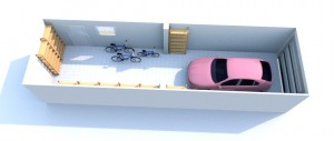 Garagenentwurf in 3D