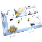 Grundriss Erdgeschoss in 3D