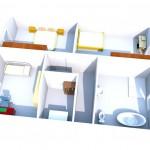 Grundriss Obergeschoss 3D