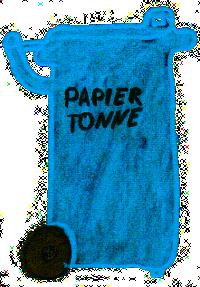 Die Blaue-Tonne für Papiermüll