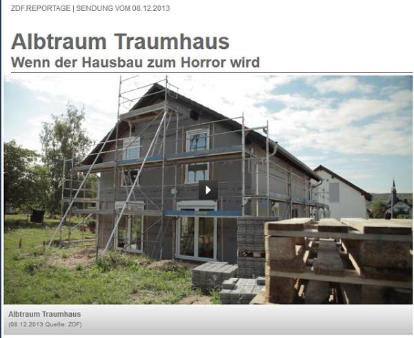 ZDF.reportage Albtraum Traumhaus - Wenn der Hausbau zum Horror wird