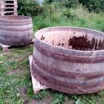 Weinbottich aus Eichenholz