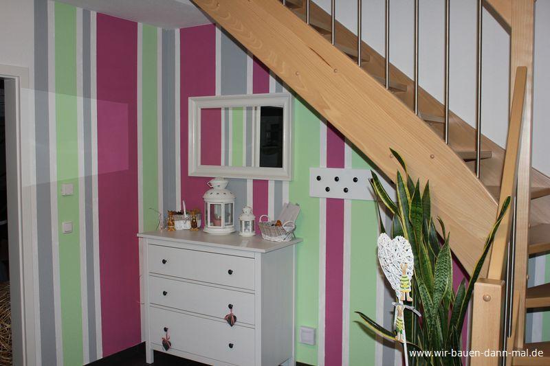 neue farbgestaltung des flur im eingangsbereich wir bauen dann mal ein haus. Black Bedroom Furniture Sets. Home Design Ideas