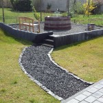 Ein gehweg mit basaltsteinen und splitt angelegt wir bauen dann mal ein haus - Splitt im garten ...