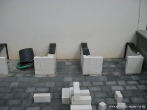outdoor k che mit kalksandsteinen mauern wir bauen dann. Black Bedroom Furniture Sets. Home Design Ideas