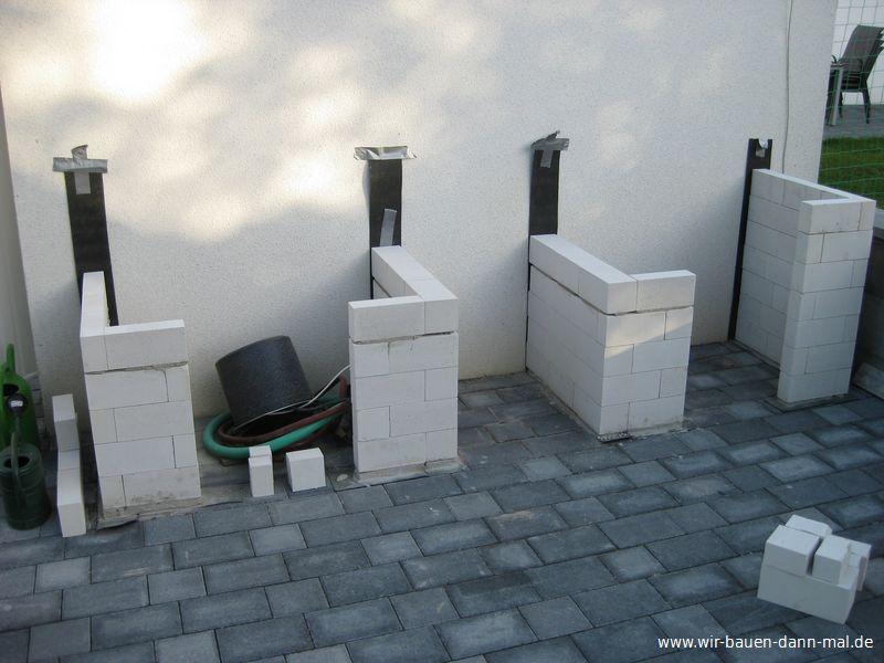 Outdoor-Küche mit Kalksandsteinen mauern › Wir bauen dann mal ein Haus