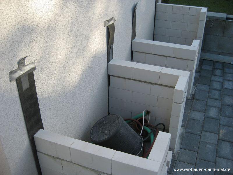 Outdoor-Küche mit Kalksandsteinen mauern › Wir bauen dann ...
