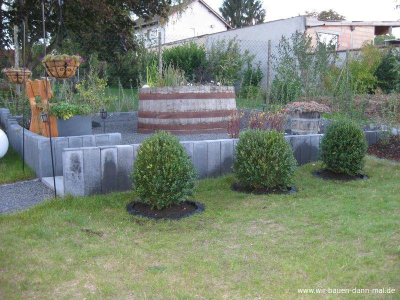 Buchsbaum kugeln f r den garten 3 gro e pflanzen eingesetzt wir bauen dann mal ein haus - Gartengestaltung mit buchsbaum ...